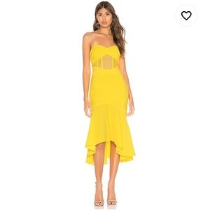 NWT Yellow corset dress